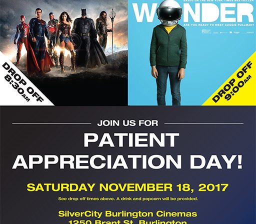 It's back! - Patient Appreciation Day - November 18th